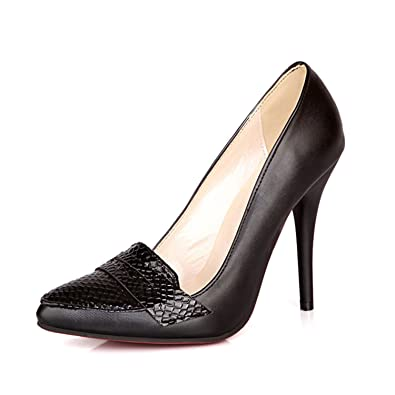 f278b1c692b gome-z High Heel Thin Heels Sexy Office Ladies  Pumps Elegant Vintage White  Black