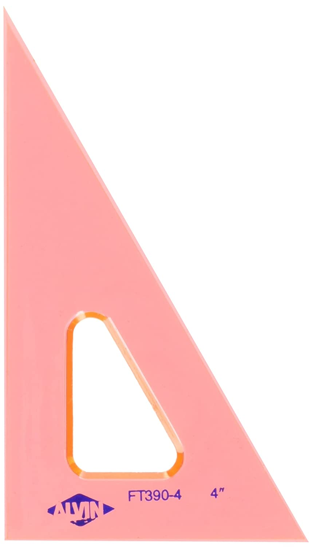 """ALVIN 131F-12 12/"""" FLUORESCENT PROFESSIONAL ACRYLIC TRIANGLE 45°//90°"""