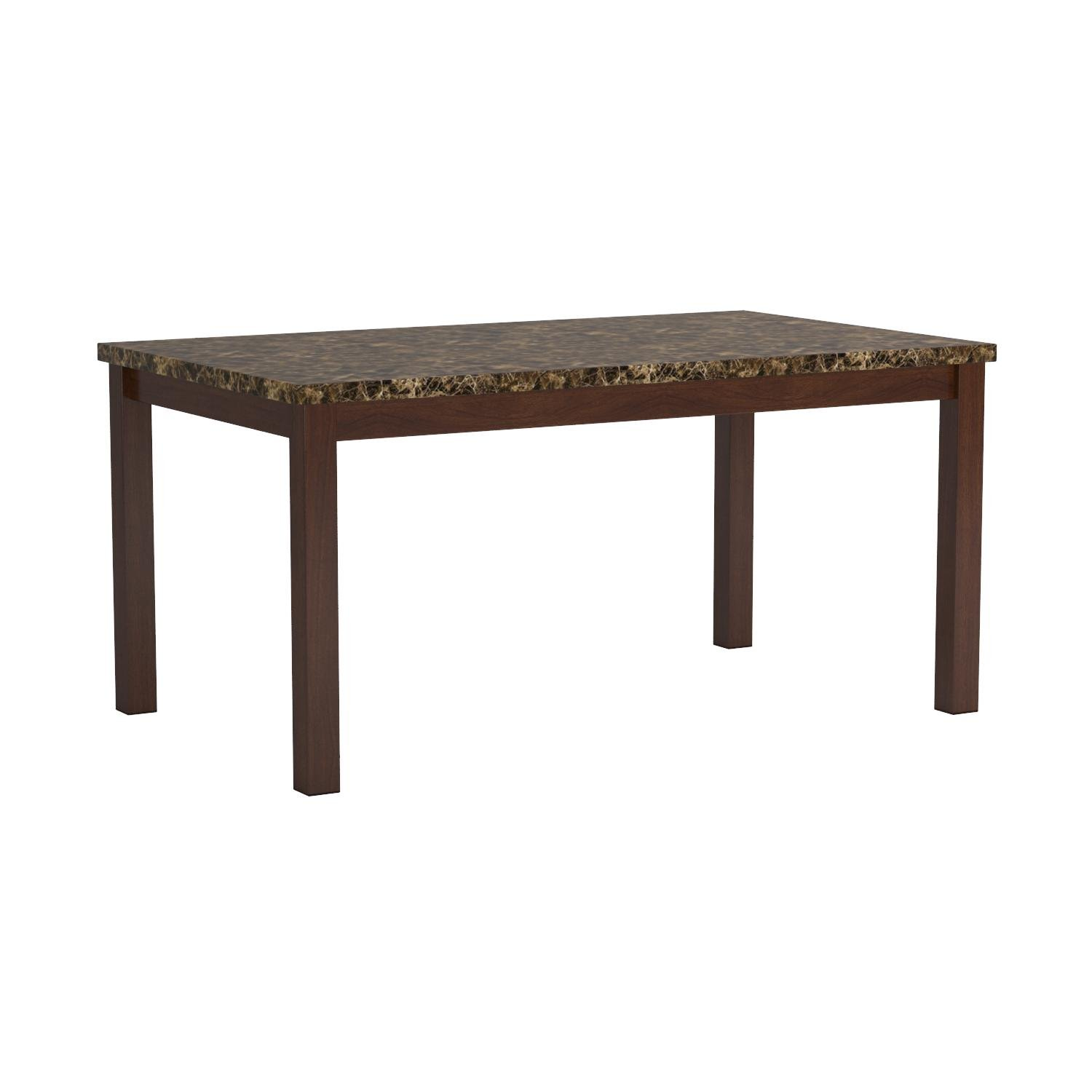 Coaster Dining Table with Marble-Like Top Rich Cherry Finish by Coaster Home Furnishings