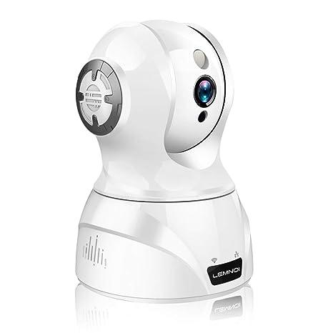 Lemnoi WLAN Kamera IP 1080P HD Überwachungskamera innen, Sicherheitskamera mit 2 Wege Audio, Nachtsicht, Bewegungserkennung K