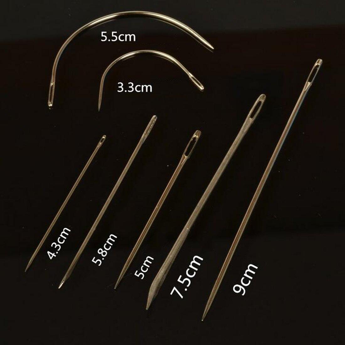 joyliveCY 7pcs agujas de clavos de acero inoxidable para reparaci/ón de piel DIY