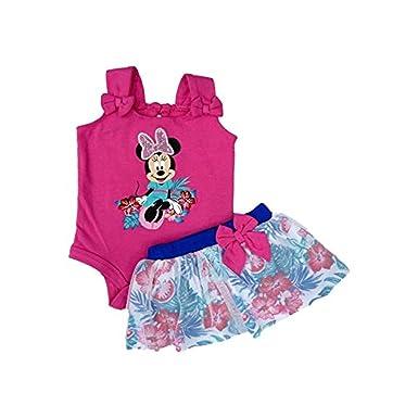 Traje de Minnie Body rosa Minnie Hawaiian Tutu Skirt 3 PC Outfit 3 ...