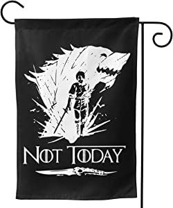 Cool Not Today Game of Thrones Got Canvas Garden Flag Vertical Double-Sided Spring and Summer Outdoor Decoration