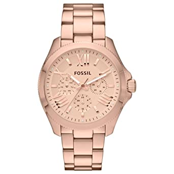 ed291277833 Fossil-AM4511 Women's Watch Analogue Quartz Luminous Hands-Free Gold-Plated  Stainless Steel