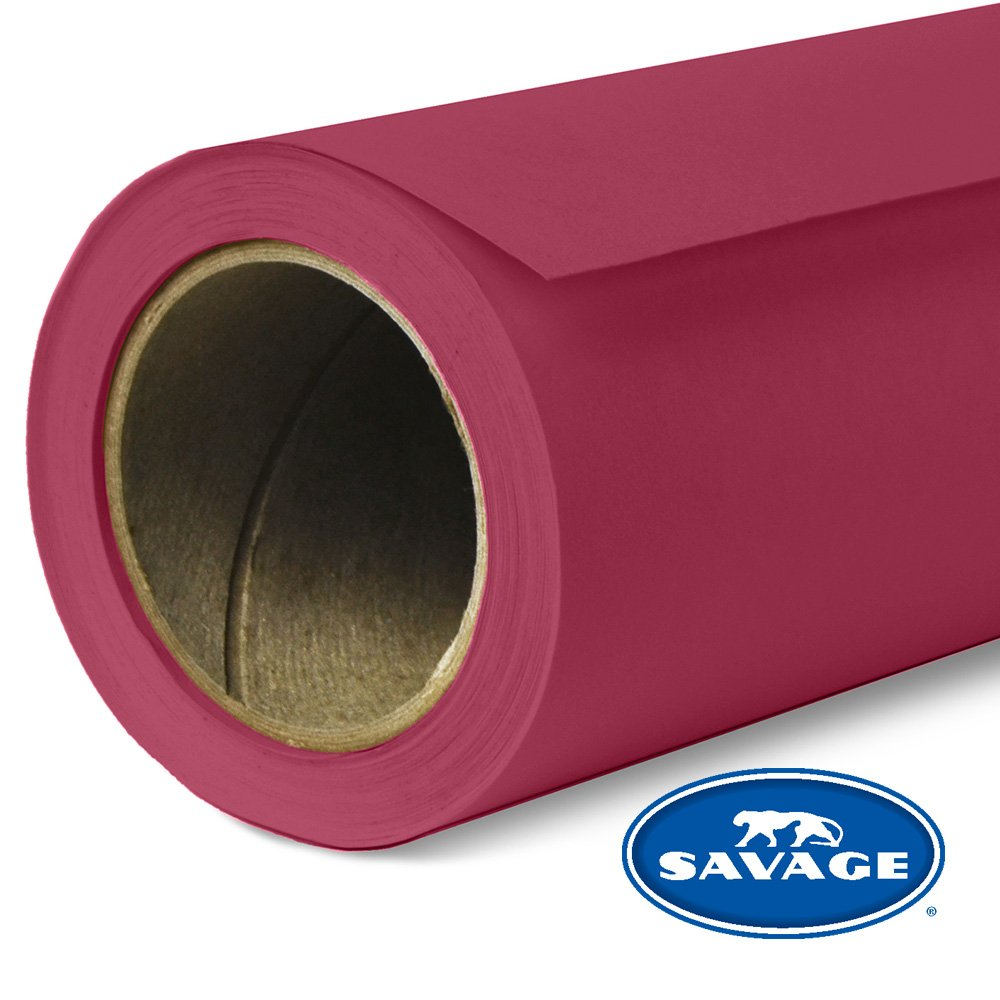 Savage Seamless Background Paper - #06 Crimson (107 in x 36 ft) by Savage