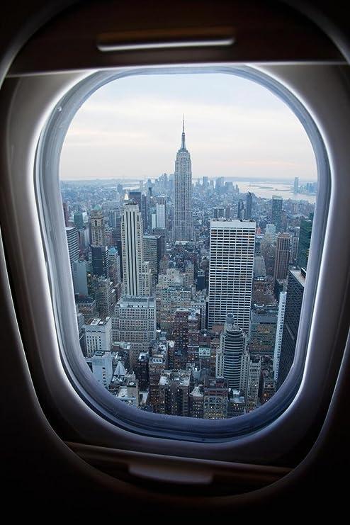 Amazon Com View Of Manhattan New York From Airplane Window Photo