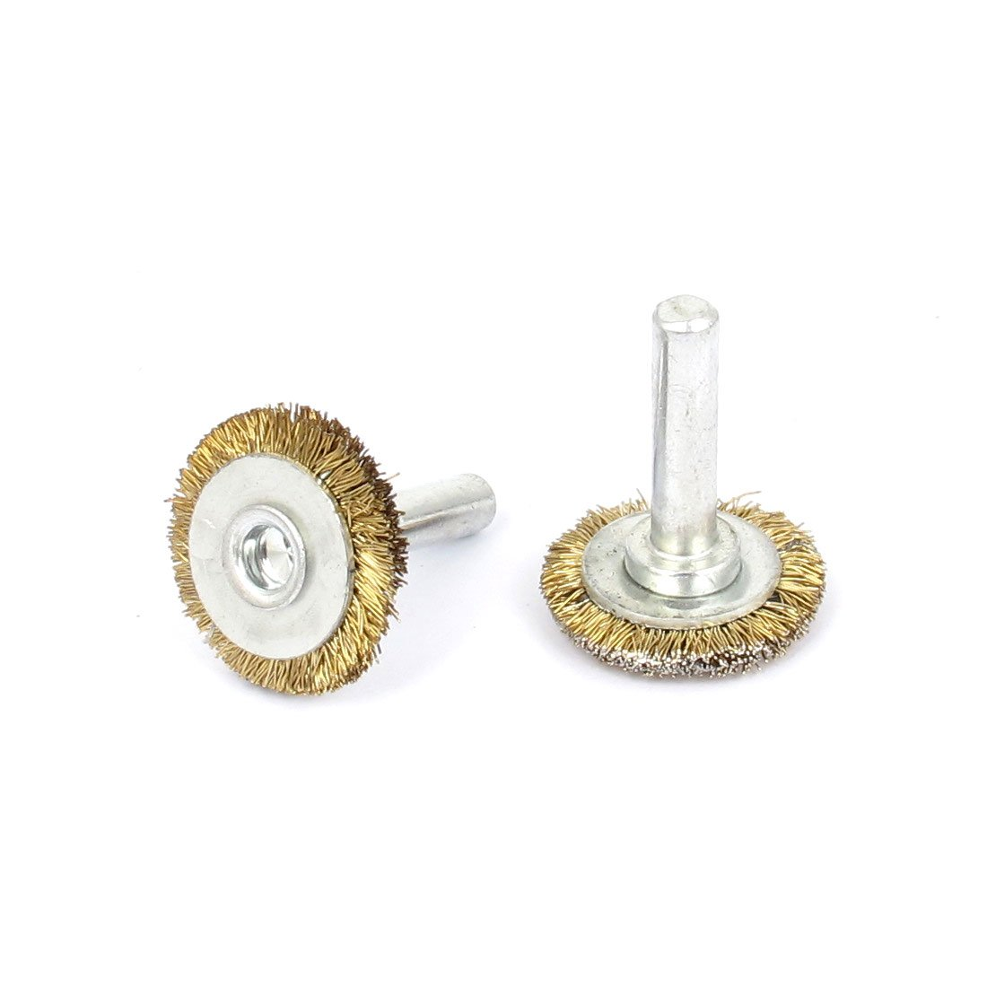 sourcingmap/® 25mm x 6mm Steel Wire Polishing Buffing Wheels Grinding Brushes 2pcs
