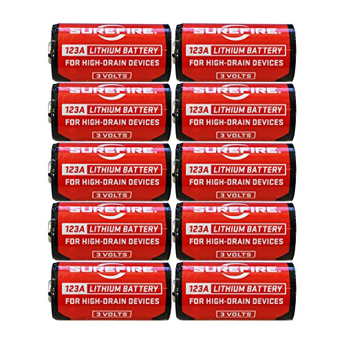 SureFire SF12-BB 123A CR123 3-Volt Lithium Batteries - 10 Pack