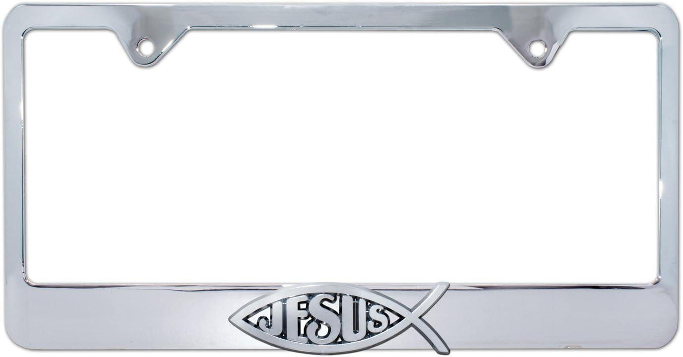 New Ichthus Symbol License Plate Frame Universal Size Car SUV Single Frame