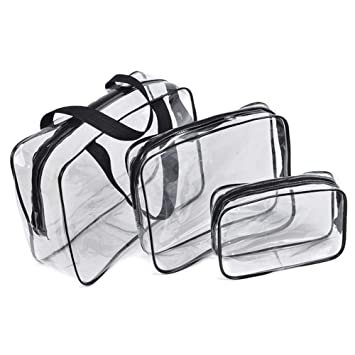 transparent Toiletry Bags Makeup Bags /& Cases Waterproof Plastic Bag Clear PVC Travel Bag Brushes Organizer for Men and Women Travel Business Bathroom