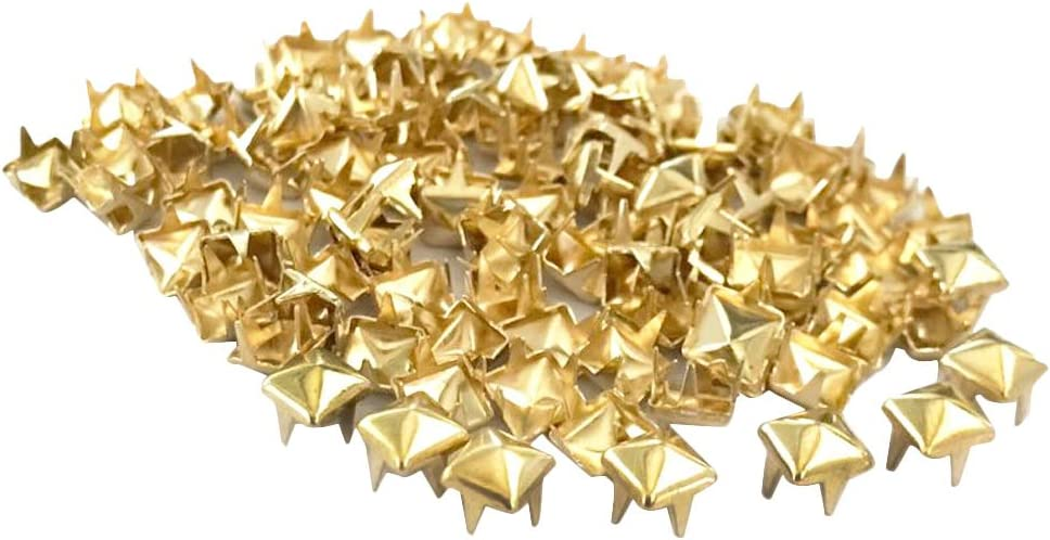 Bronze 5mm P Prettyia 300 St/ück Ziernieten Krallennieten 5mm Pyramidennieten Pyramide Zierniete Niete Leder Deko