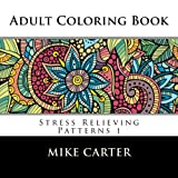 img - for Adult Coloring Book: Stress Relieving Patterns 1 book / textbook / text book