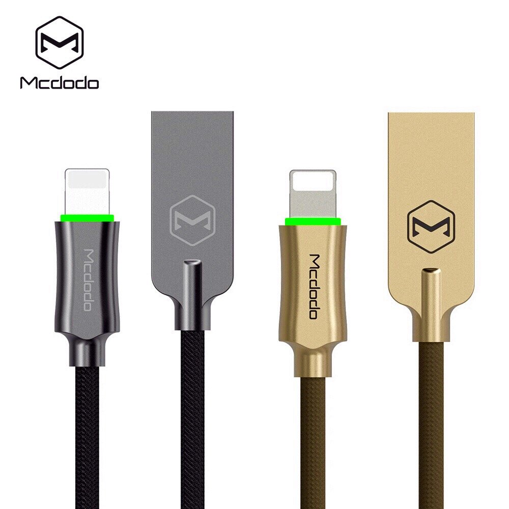 Smart LED 6FT/1.8M Auto Disconnect Lightning nylon Braided Sync Charge USB Data Cable For iPhone 7/7 Plus, 6/6 Plus, 6s/6s Plus, 5s/5c/5, iPad Pro/Air 2,iPad mini 4/3/2,iPod (6FT Dark Gray)