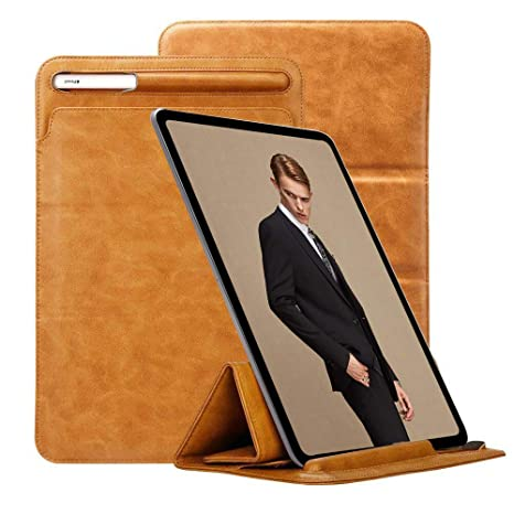 free shipping b4152 be9ef iPad Pro 12.9 Case 2018 with Apple Pencil Holder TOOVREN Tri-fold Stand  iPad Leather Sleeve PU Protective Pouch Cover iPad 3rd Generation Case for  ...