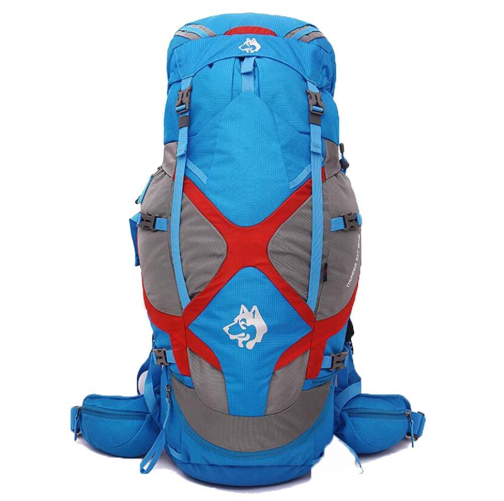 Zehaer クライミングバックパック キャンプリュックサック ムーブメント アウトドアバックパック 登山用ライディングバッグ ブラック B07PQ65X33 ブルー