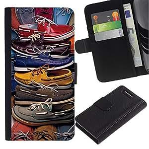 Stuss Case / Funda Carcasa PU de Cuero - Moda Pastel Color Design Shop - Sony Xperia Z3 Compact