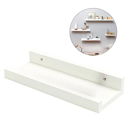 19e83b1a3d15 Image Unavailable. Image not available for. Color  OUNONA Wall Shelf  Floating Floating Shelves Ledge Storage