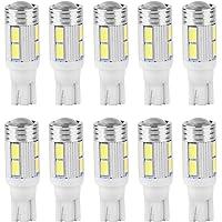 10pcs T10 5630 10LED Coche LED Ancho de la cuña Lámpara de lectura Luz Matrícula Lighgt Bombilla