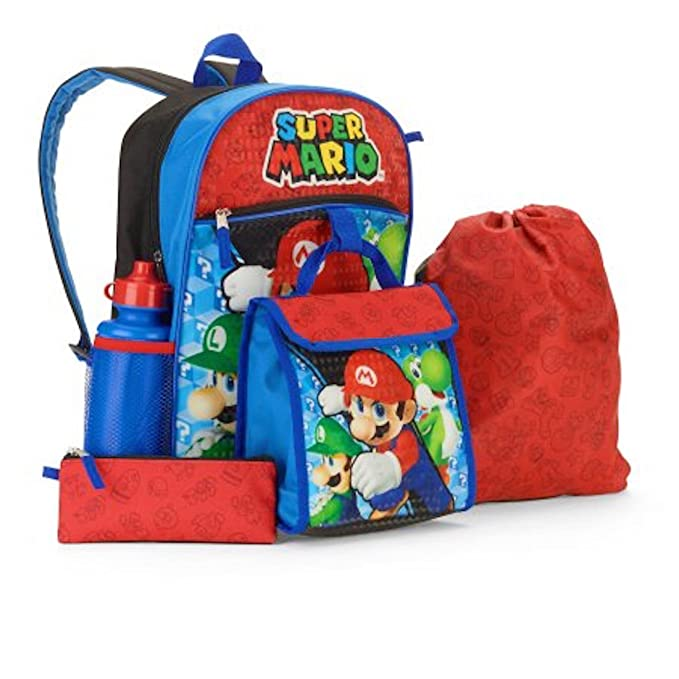 2885c2c3fc Nintendo Super Mario 5pc Kids School Set - Backpack