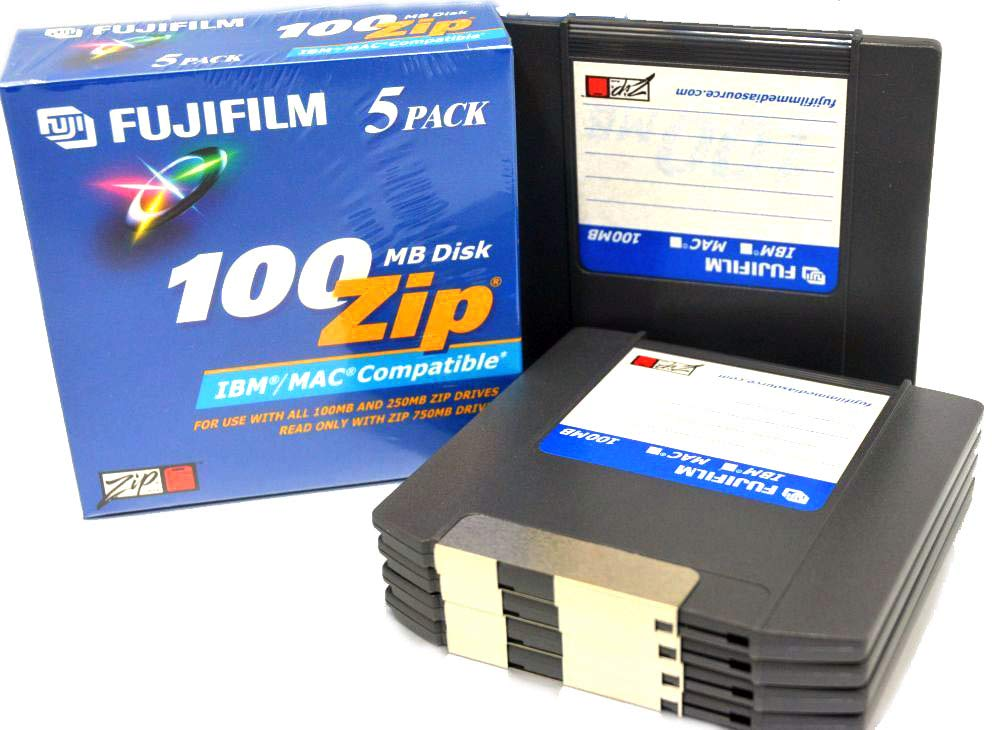 Fuji FUJIFILM 100MB Zip Disk 5-Pack by Fujifilm