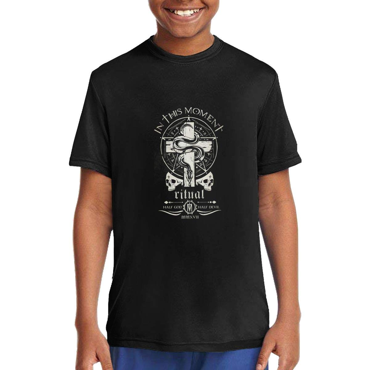 in This Moment Ritual Children T Shirts Short Sleeve Tees Boys Girls