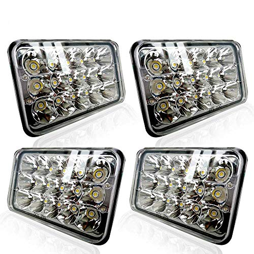 TURBOSII DOT Approved 4X6 LED Headlight Assemblies, used for sale  Delivered anywhere in USA