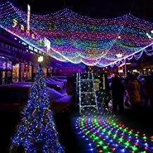 EShing 6.6ft*9.8ft 210 LED Waterproof Net Mesh Fairy Lights Twinkle Lighting for Wall, Tree, Garden, Lawn, Patio, Wedding, Party, Indoor, Outdoor Decorations ( Multi-color)