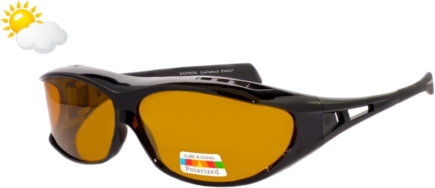 Rainbow Safety Herren Überbrille Sonnenbrille Herren Für Brillenträger Schutzbrille Für Sport Radfahren Skifahren Angeln Auto Nachtsichtbrille Polarisierte Gläser Rwn20 Die Sonne Cat 2 Sport Freizeit