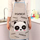Newest Women's Cartoon Waterproof Kitchen Cooking Bib Apron With Pockets Hottest (Gray)