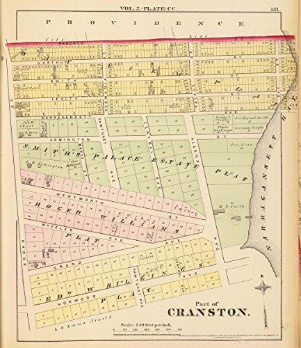 Cc Atlas (1875 City Atlas | Part of Cranston. Vol. 2, plate CC. | Antique Vintage Map Reprint)