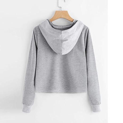 MEIbax Moda Mujer Camisa de Manga Larga Rosa Camisas de impresión Sudaderas causales Blusa: Amazon.es: Ropa y accesorios