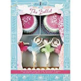 24 Cupcake Liners and 24 Cake Toppers Set For Girls Birthday Party Celebration Ballet Cupcake Decoration Kit