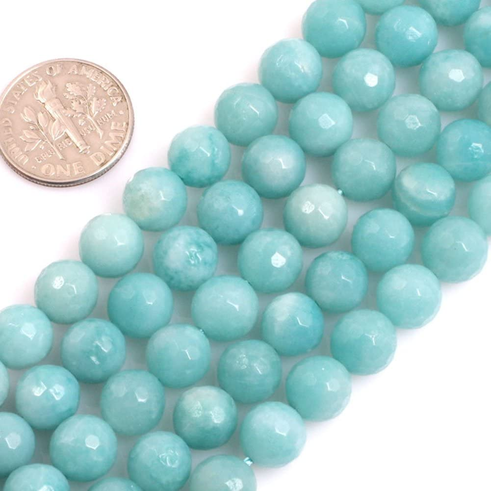 8mm Natural Blue Amazonite Round Gemstone Loose Beads 15/'/' Strand AAA