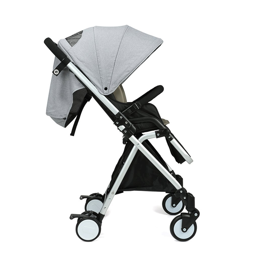 SXZHSM-Strollers Baby Strollers Lightweight Portable Recessed Carts for Children (Gray) (Blue) (Pink) 86 x 48 x 105cm (Color : Gray)