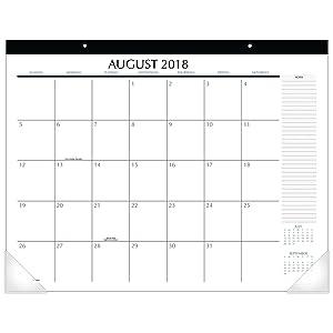 Upper Class 2018-2019 Academic Year Student Desk Pad Calendar, Standard, 21-3/4 x 17 (TL2417)