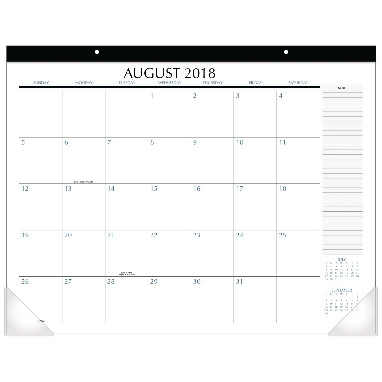 Upper Class 2018-2019 Academic Year Student Desk Pad Calendar, Standard, 21-3/4 x 17 (TL2417) by UpperClass (Image #1)