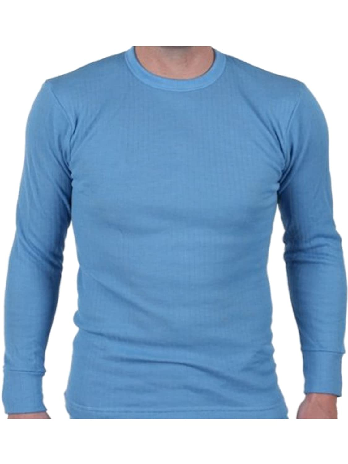 Available in White Mens Quality Thermal Long Sleeve Top Charcoal and in Sizes Small XX Large Blue X Large T-shirt Underwear Large Medium