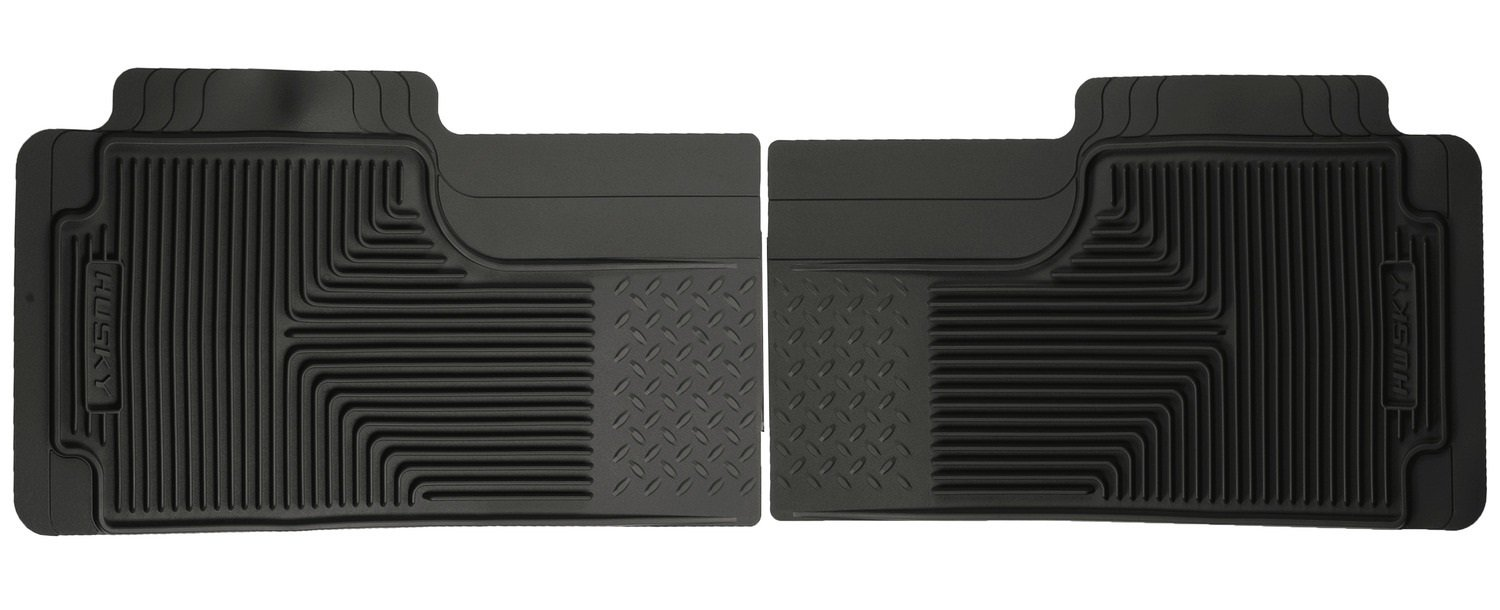 Husky Liners Custom Fit Heavy Duty Rubber Rear Floor Mat - Pack of 2 (Black) Winfield Consumer Products 52011