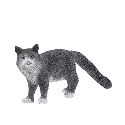 SCHLEICH Farm World Maine Coon Cat Educational Figurine for Kids Ages 3-8: Toys & Games