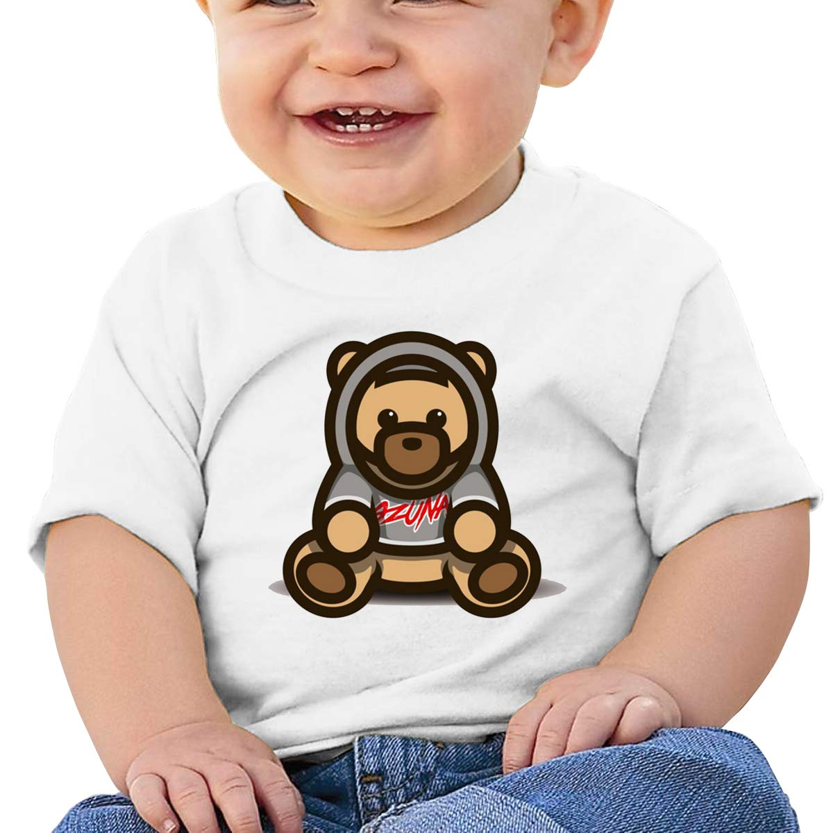 DONGLY 6-24 Month Baby T-Shirt Ozuna Bear Nordic Winter Personality Wild White