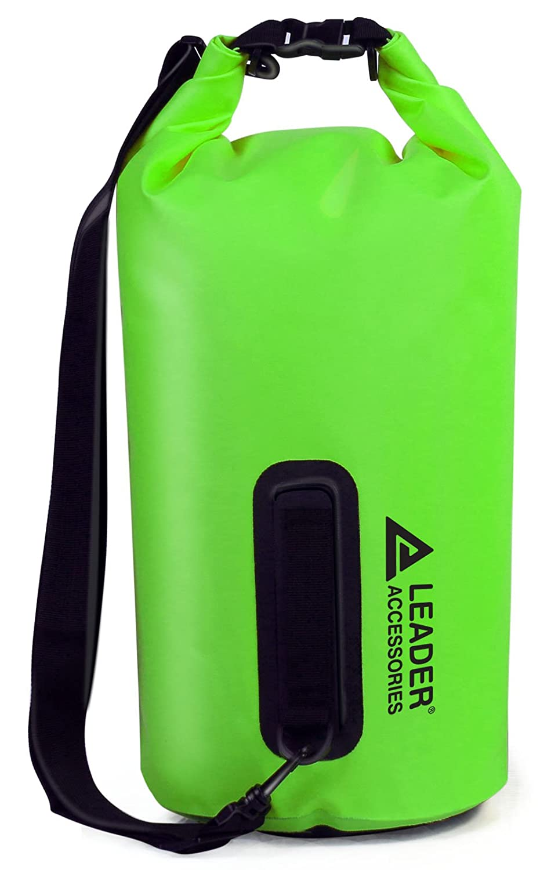 15L|グリーン (リーダーアクセサリーズ) PVC防水ドライバッグ グリーン Leader ボートやキャンプ用 B00NBQN6MY 15L Accessories