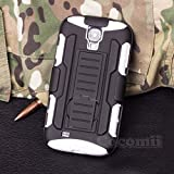 Galaxy S4 Mini Case, Cocomii® [HEAVY DUTY] Galaxy S4 Mini Robot Case **NEW** [ULTRA FUTURE ARMOR] Premium Belt Clip Holster Kickstand Bumper Case - Full-body Rugged Protective Cover for Samsung Galaxy S4 Mini (Black/White) ★★★★★