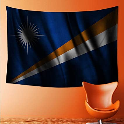 Amazon Com Polyester Tapestry Wall Hanging Flag Of Marshall Islands