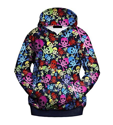 Mosszra Jolly Roger Crossbones Digital Print Pocket Fashion Hoodie - Roger Jolly Sweatshirt