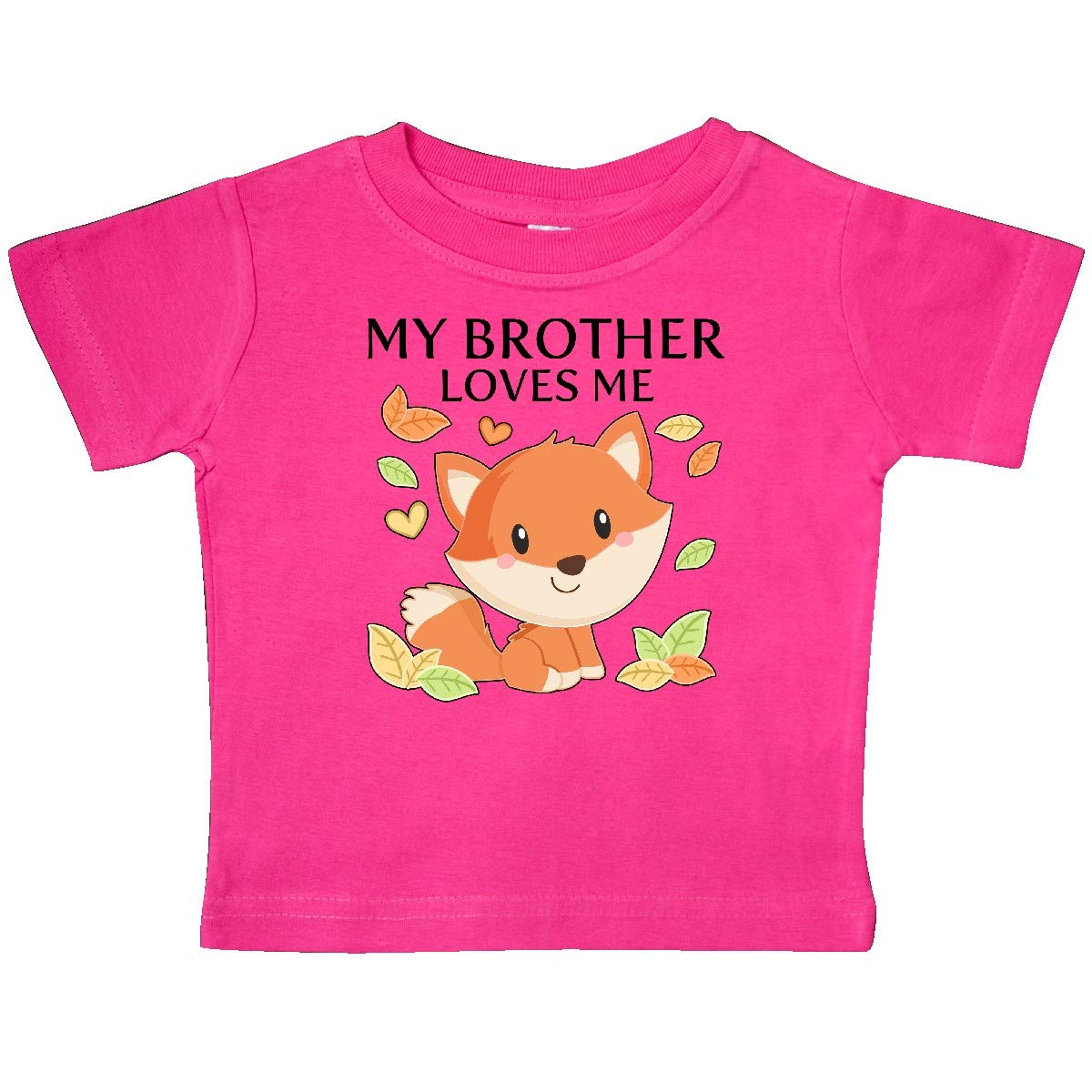Little Fox Baby T-Shirt inktastic My Brother Loves Me