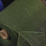 Moss Green Deco Mesh Craft Ribbon 6.5'' x 80 Yards