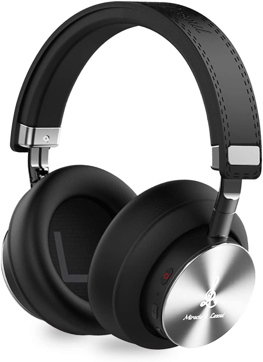 Amazon Com Miracle Lesoul A7 Over Ear Bluetooth Headphones With Microphone Wireless And Wired Hi Fi Stereo Bass Foldable Headset Soft Memory Protein Earmuffs 25 Hours Playtime For Trave Work Pc Phone Black Electronics