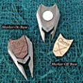Personalized Wood Golf Ball Marker & Divot Tool - Gifts for Groomsmen, Best Man Gift, Father of The Bride Gift, Men's Gift, Gift for Dad