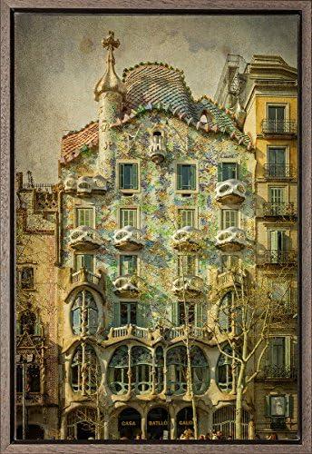 TEXFOTO Cuadro Enmarcado - Casa Batlló de Antonio Gaudí en Barcelona - Fotografía artística y Moderna Listo para Colgar - Hecho a Mano en España (40_x_60_cm): Amazon.es: Hogar
