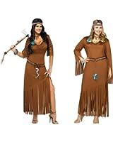 Adult Indian Summer Native American Costume - Regular or Plus